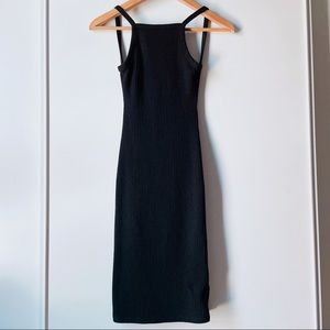Aritzia Community Hartmann black backless dress